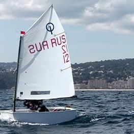 optimist zeil XE-1 back Quantum sails