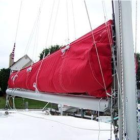 lazy jack, zeilhuik canvas quantum sails