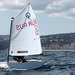 optimist zeil XE-1 back Quantum sails